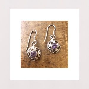 Jewelry - NEW | Natural Amethyst & Sterling Silver Earrings